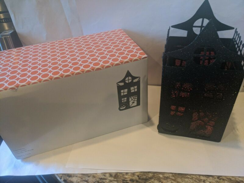 GOLD CANYON CANDLE HALLOWEEN HAUNTED MANSION LANTERN HOLDER WARMER 83713 - NEW