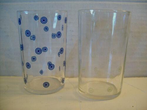 "2 Kraft Swanky Swig Glasses Circle and Dot Swankyswig 3 1/2"""
