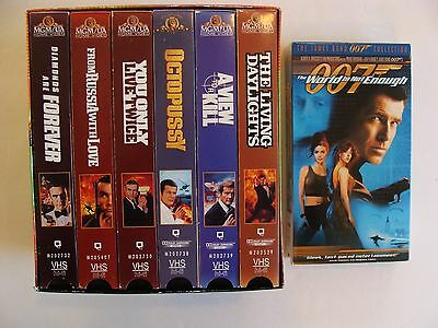 James Bond Collection 007 Gift Set - Vol. 3 VHS, 2000 6pk + World is not Enough