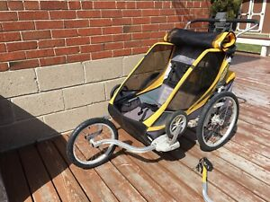 Cougar 2 Chariot with ALL the attachments: walk, run, bike
