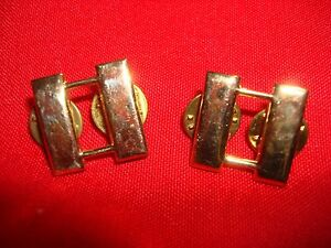 Pair-Of-US-Military-Officer-CAPTAIN-Rank-Brass-Badges-Clutchback-Pins