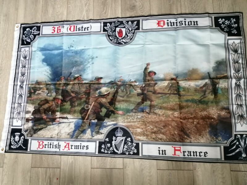 36th Ulster Division Battle of the Somme rememberance Flag 3X5FT