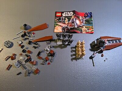 LOT OF TWO - LEGO Star Wars Droids Battle Pack (7654) With Manual ARMY BUILD 80%