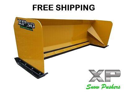 8 Snow Pusher Box Skid Steer Snow Plow Kubota Bobcat Case Free Shipping Xp30
