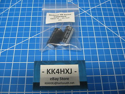 Nichicon - Vr Series - Radial Electrolytic Capacitors - 25v 6800uf - 2 Pieces