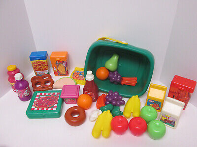 Vintage Little Tikes Grocery Store Market Pretend Play Food
