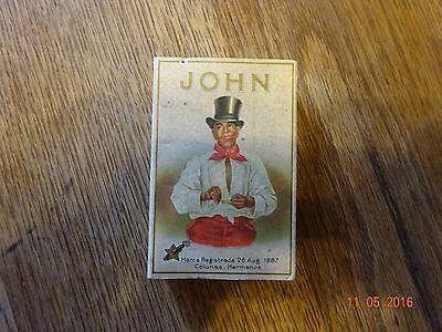 Vintage Black Americana Hojas De La Habana Cigar Box Empty