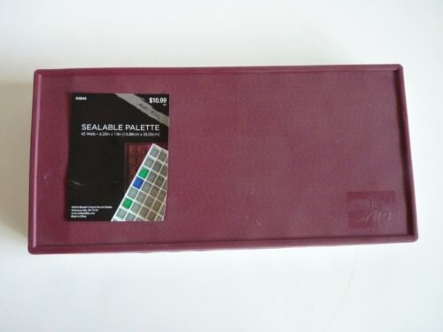 """Sealable Palette 45 Wells by Sun Art Painting 6.25"""" x 13"""" New"""