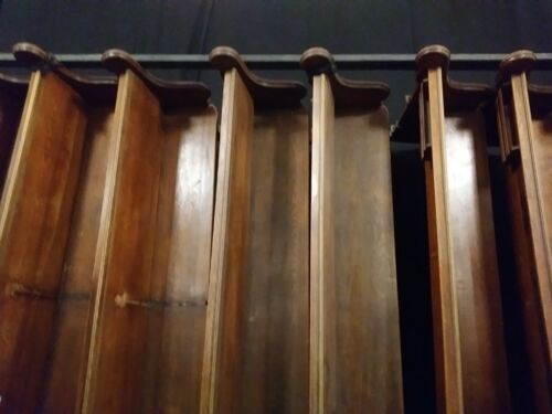 Vintage solid wood church pews
