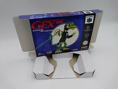Gex 64 Enter The Gecko - Box reproduction with insert - N64 - PAL or NTSC.