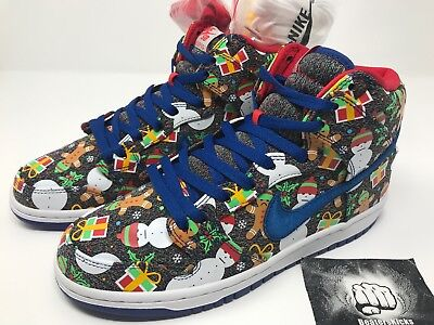 Nike SB Dunk High Pro Ugly Christmas Sweater Concepts Size 8 [881758-446]