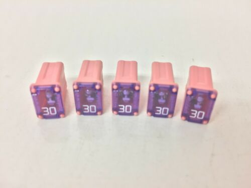 5pcs, 30A Flosser Micro Cartridge Fuse 608830, MCASE030 FMM-30 Type Auto Pink FS
