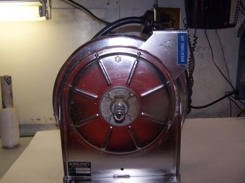 REELCRAFT SPRING RETRACTABLE STAINLESS STEEL HOSE REEL 5600 OLS WITH HOSE
