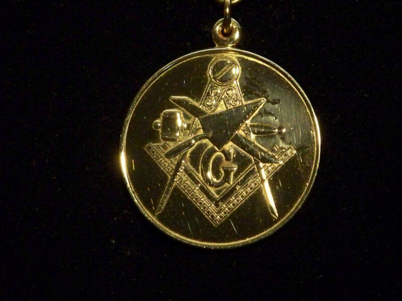 14K Gold Masonic Blue Lodge Pendant