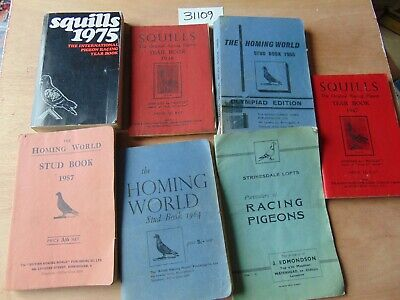 JOB LOT 7 x RACING PIGEON BOOKS SQUILLS STRINSDALE LOFTS HOMING WORLD