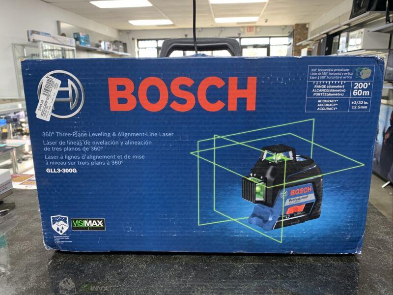 Bosch Gll3-300g 360 3 Plane Leveling & Alignment-line Laser NIB