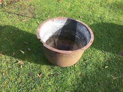 Wash Tub Cauldron Laundry Boiling Pot Planter Dolly Prop Cast Iron