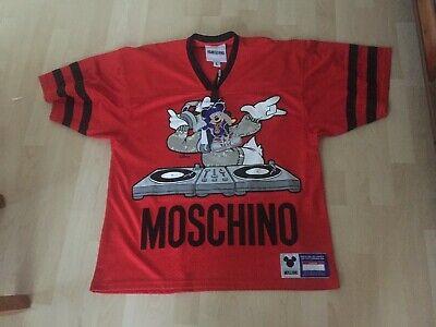 Moschino H&M H&MOSCHINO TV T-Shirt Shirt Mesh Meshshirt, Size L Disney ROT...