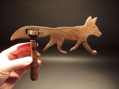 Vintage Antique Style Wood Rattle Figural FOX Noise maker