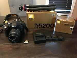 Nikon D5200 kit (used) + Nikkor 18-55 AF-P (new)