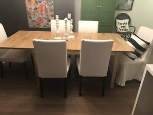 IKEA Dining Set - 6 Henriksal Chairs and Stornas Table
