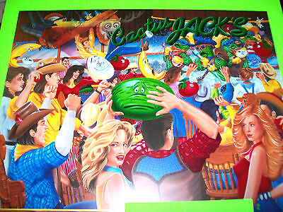 Gottlieb CACTUS JACKS 1991 Original NOS Pinball Machine TRANSLITE Backglass Art