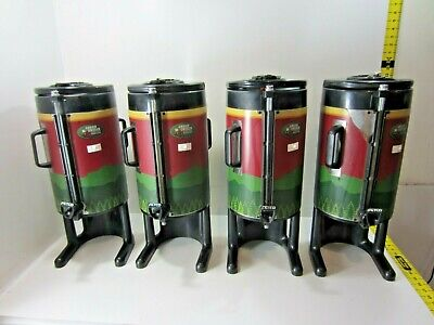 Lot Of 4 Fetco Luxus 1.5 Gallon Stainless Thermal Coffee Beverage Dispensers