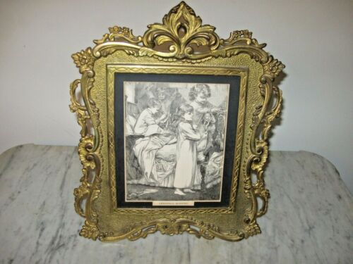 Victorian Ornate Picture Frame With Print