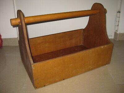 Große alte Werkzeugkiste, Holz, Werkzeugkasten, Handwerkskasten, Schlosser