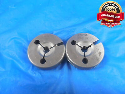 14 56 Uns 2a Thread Ring Gages .25 Go No Go P.d.s .2376 .2350 14-56 Tool