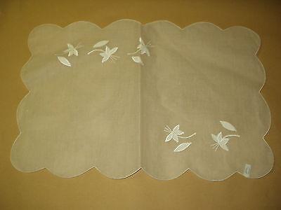 4 Tischset gewebt Blumenmuster  Baumwolle Ponte Cheio Brasi 50x33 durchsichtig (Baumwolle Gewebte Tischdecke)