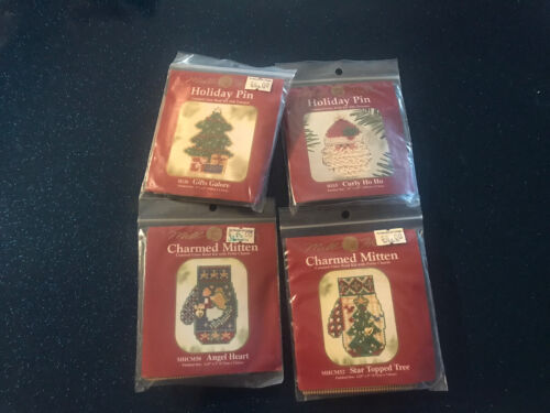 4/ Mill Hill Christmas Counted Cross Stitch Glass Bead Ornam