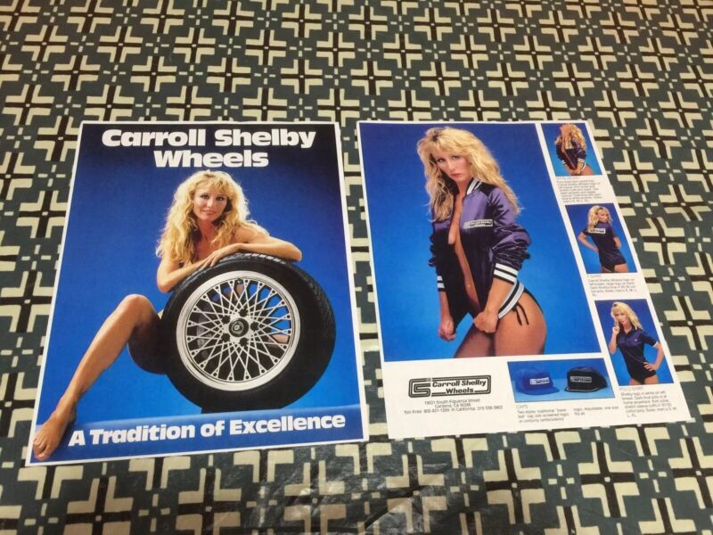CARROLL SHELBY WHEELS  CALIFORNIA  GIRL BROCHURE FRONT & BACK FULL COLOR IMAGES!
