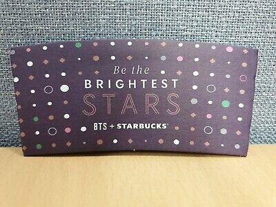 Starbucks Korea + BTS 2020 Coffee cup sleeve