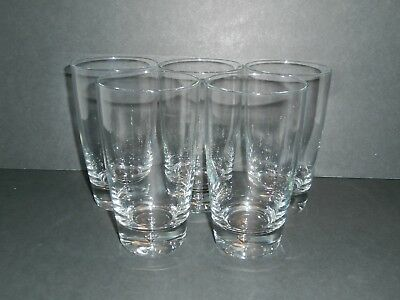 Clear Glass Bubble In Base High Ball Drink Water Glasses Unknown Brand-Lot of 5!](Bubbles In Bulk)
