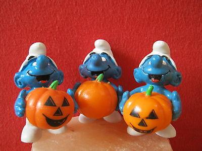 HALLOWEEN SCHLUMPF TRIOLOGIE SCHLÜMPFE KÜRBIS  SMURFS PUFFI - Halloween Schlümpfe