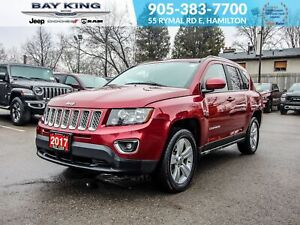 2017 Jeep Compass REMOTE START, SUNROOF, HEATED SEATS, BLUETOOTH