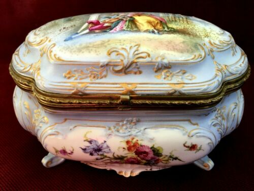 Antique porcelain box EDME SAMSON