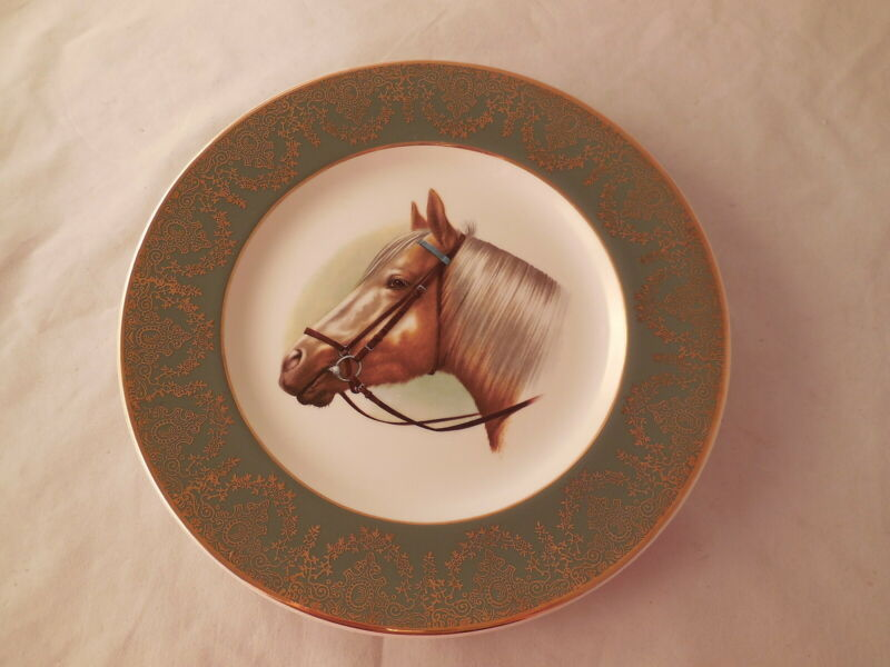 Crown Ducal England Plate Palomino Horse