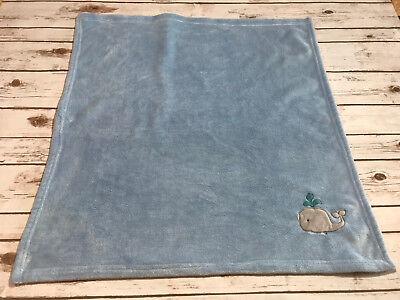 Circo Gray Whale Blue Fleece Blanket Security Baby Boy 30X30  Lovey Soft Target