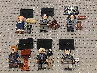 Lego Minifigs-#71022 - (Set of 6)  Fantastic Beasts  - INCLUDES PERCIVAL GRAVES