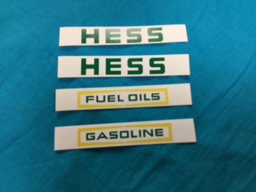 1977 and 1978 Hess Truck Stickers