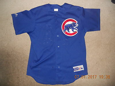 Chicago Cubs Baseball Jersey Majestic Authentic Apparel  Sewn Sammy Sosa Mesh Md