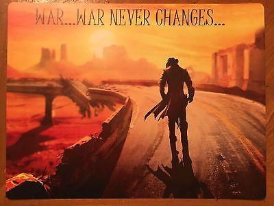Tin Sign Vintage Fallout War...War Never Changes