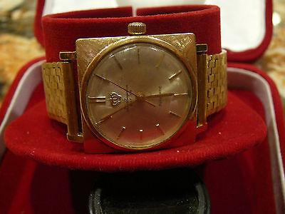 14kt Yellow Gold Mens Watch -  Mens Vintage Jules Jurgensen Automatic   14 kt Yellow  Gold  Watch & Band