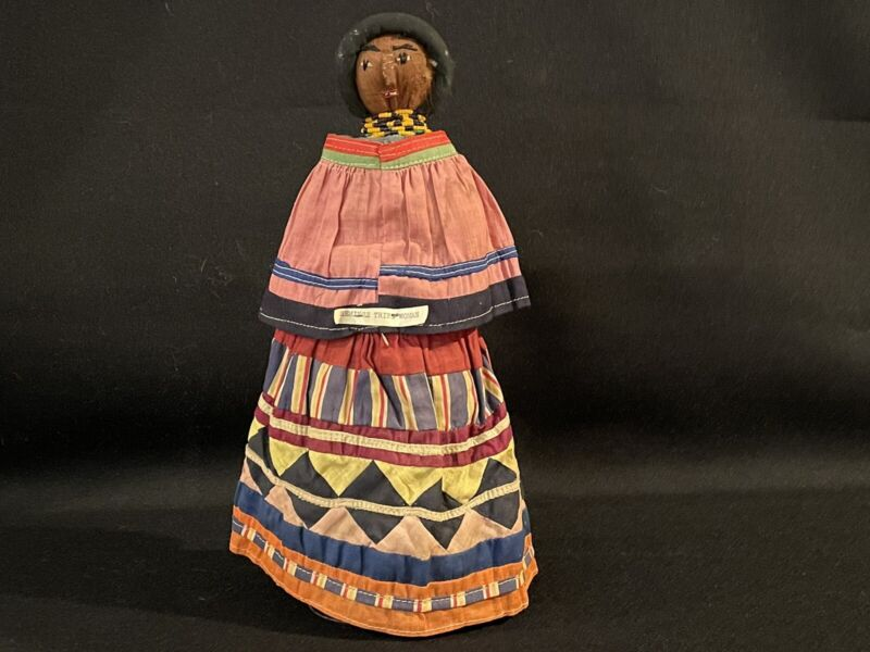 """ANTIQUE SEMINOLE DOLL - 11 and 1/2 """" tall  mint condition."""