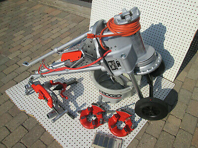 Exc Ridgid 300 T2 Pipe Threader Machine Two 811 Head Hs 14-2 Complete Set