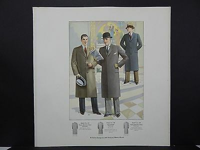 Men's Fashion, Suits, Clothing, 1920's Catalog, One Page, S2#12