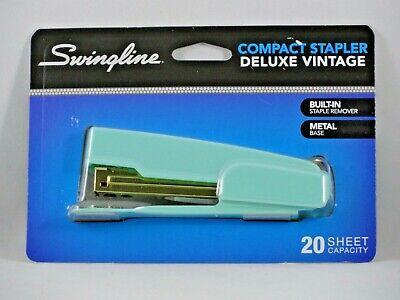 New Swingline Compact Stapler Deluxe Vintage 20 Sheet Capacity Turquoise