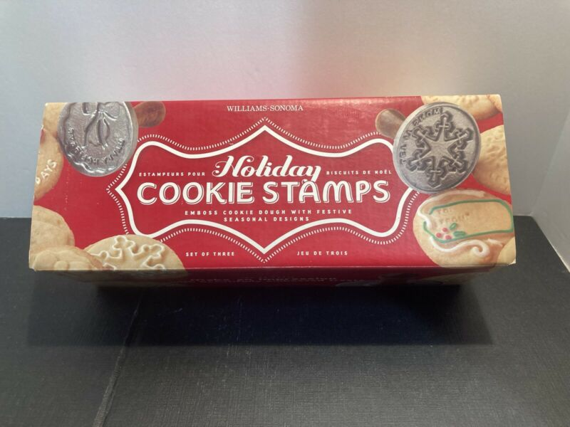Williams Sonoma Set of 3 Holiday Cookie Stamps by Nordic Ware